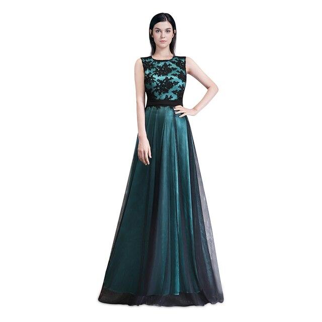 Elegant Evening Dresses A Line Sleeveless Green Ever Pretty EP08740 Evening  Round Neck Long Dresses Women 2018 New Arrival Gowns 7ca2fc30e404