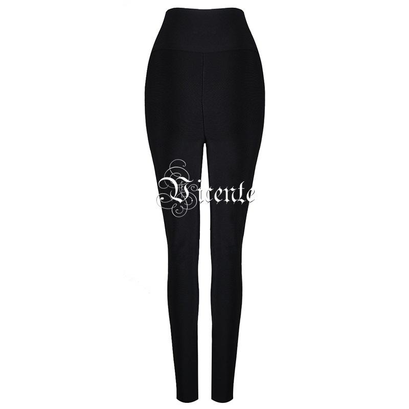 Leggings À Mode Haute Taille Embelli Rivet Chaude Femmes Parti Vicente Lacets Bandage Criss 2019 Pantalon Noir Célébrité Croix Nouvelle Cwt6wqW8