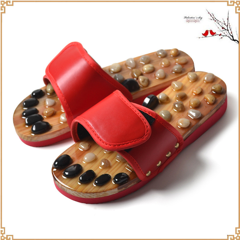 купить New factory direct foot massage shoes pebbles slippers foot pain relief relaxation health acupuncture slippers онлайн