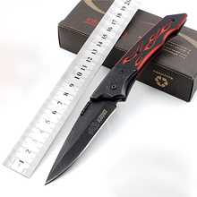 Very Sharp Folding Pocket Knife Black G10 Tactical Survival Knife Etching 7CR17MOV Hunting Knife Outdoors EDC Tools 1774#