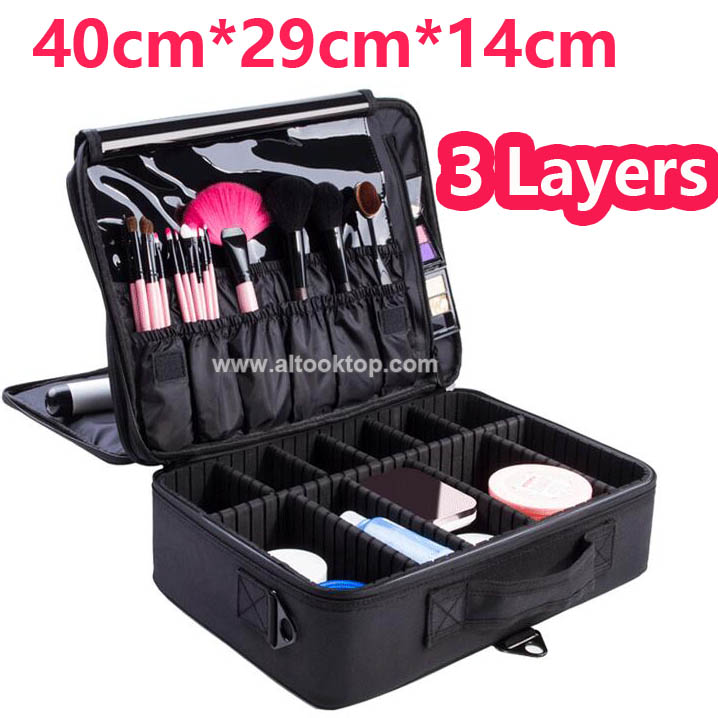Us 33 98 Aliexpress Com Buy Professional Makeup Artist Bag Waterproof Cosmetic Storage Beauty Vanity Case Make Up Travel Bag For Makeup Brushes
