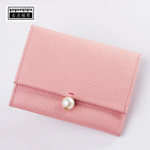 Top 10 most popular decorative business card holder guyueqiqin women wallet genuine leather case colourmoves