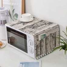 Azjatyckie bawełniane etui do mikrofalówki kuchnia olej kurz dwie kieszonki akcesoria i materiały kuchenne akcesoria do dekoracji wnętrz tanie tanio Nowoczesne FS2013208 100 len