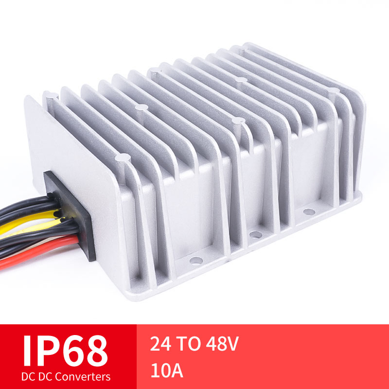24 TO 48V 10A High Quality DC Converter Step Down DC Voltage Regulator Voltage Mutual, Suitable for Automot