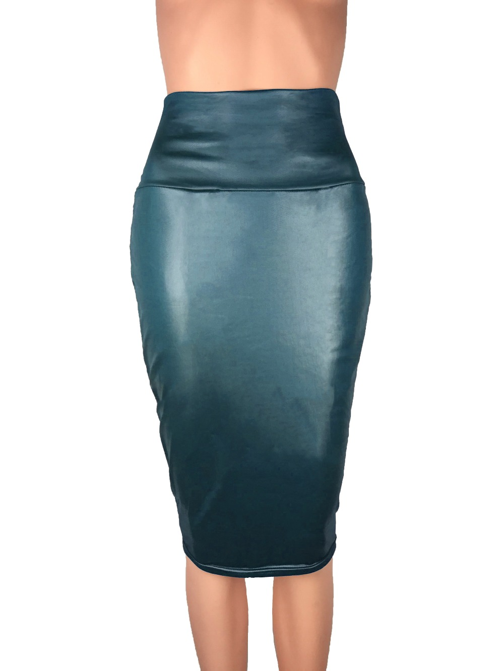 Bohocotol 2018 μολύβι faux δερμάτινη φούστα - Γυναικείος ρουχισμός - Φωτογραφία 3
