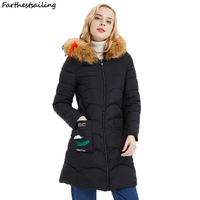New 2018 Fashion Medium long Winter Coat Women Big Fur Parka Female Thickening Warm Down Jacket Women Outerwear Ladies Coat Wome