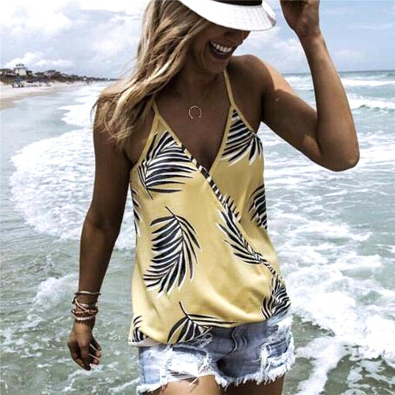 Women Blouse Casual Floral Print Vest Top Sleeveless Blouse Shirt Womens Tops And Blouses Plus Size Women Clothes Ropa Femenina