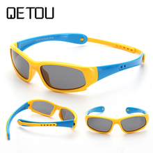 купить QETOU 2018 Children Polarized Sunglasses TR90 Baby Classic Fashion Eyewear Kids Sun glasses boy girls sunglasses UV400 Oculos дешево