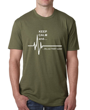 2017 Funny ECG Heart Rate T Shirt Keep Calm and…Not That Calm men Cotton plus size tees top fitness hip-hop top brand clothing