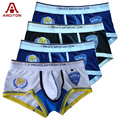 A ARCITON 4PCS World Police Men Sexy Underwear Cotton Mens Underwear Boxers Men Print Boxer Shorts Size M-XL Boxer Hombre(N-377)