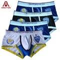 Un arciton 4 unids mundo policía hombres sexy underwear algodón para hombre underwear boxers imprimir boxer talla m-xl boxeador hombre (n-377)