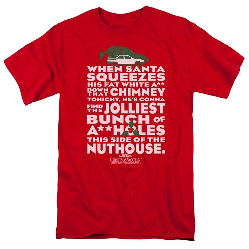 Cool Shirts Christmas Vacation Jolliest Bunch Short Comfort Soft Crew Neck Shirt For Men