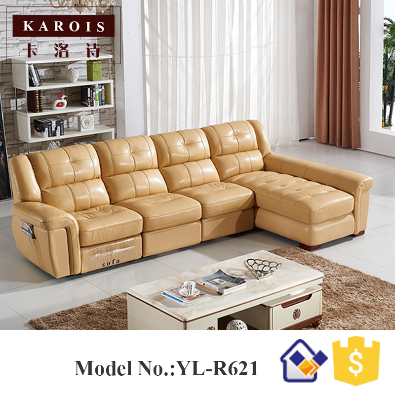 latest electric leather recliner sofa set for living room r621