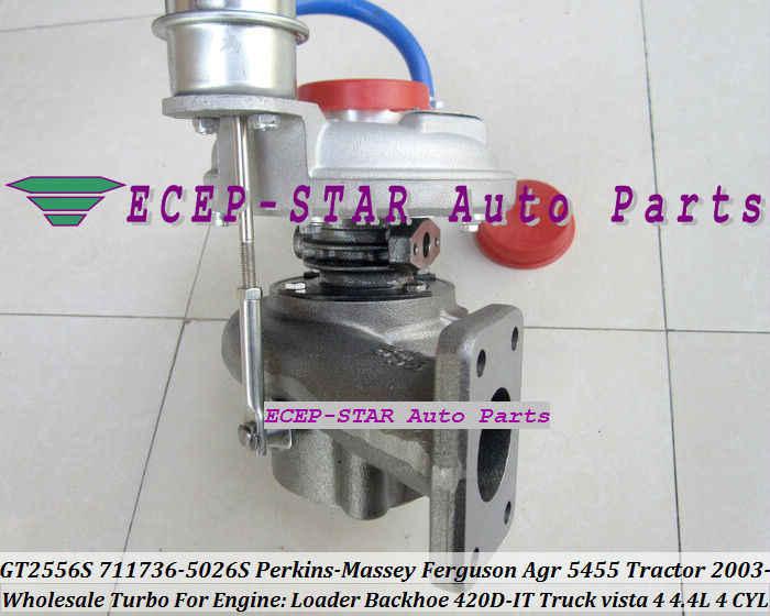 GT2556S 711736-5026S 711736 2674A227 Turbo For Perkin Massey Ferguson  Agricultural 5455 Tractor Loader Backhoe 420D-IT 4 4L 03-