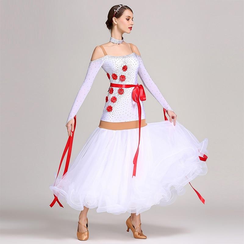 Ballroom Dance Competition Dresses White Ballroom Dresses For Ballroom Dancing Clothes Waltz Dance Dress Tango Dance Costumes