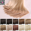 7a Virgin Remy Tape In Adhesive Human Hair Extensions 20 40 pieces Platinum Hand Tied Invisible Skin Weft Hair Extension Blonde