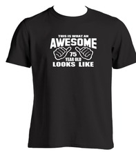 Phiking 75Th Gift Ideas For A 75 Year Old Birthday Present 2018 Summer T Shirts