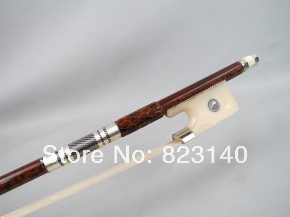 1 PC High Quality Strong Snake wood 4/4 Cello Bow 3005# free shipping 4 4 size 430c pernambuco cello bow high quality ebony frog with shield pattern white hair violin parts accessories
