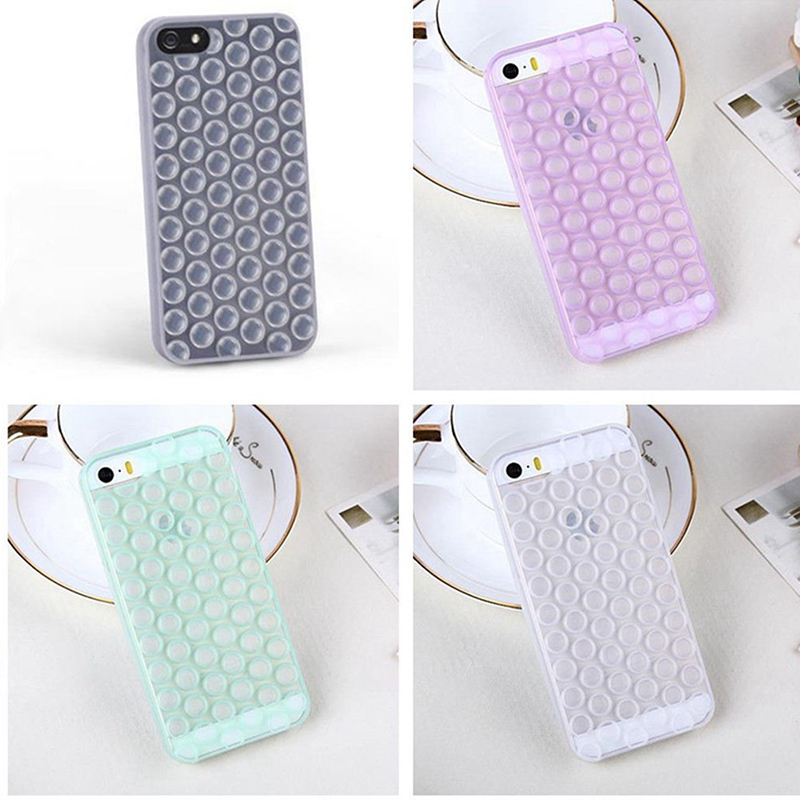 Japanese Decompression 3D Air Bubble Phone Cases Cover For iphone 6S 6 Plus 5 5S SE Cellphone Clear Bubbles Wrap Cases EC776