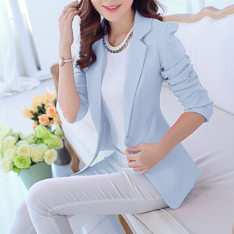 2018 New Fashion Slim Ladies Coat Work Clothes for Women Spring Plus Size Wear Jacket Clothe Tops
