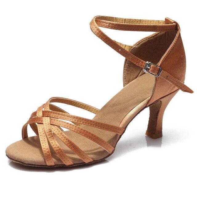 ¡Oferta! zapatos de baile profesionales para mujeres, zapatos de baile de salón, zapatos de baile latino para señoras, tacón de 5 CM/7 CM 2