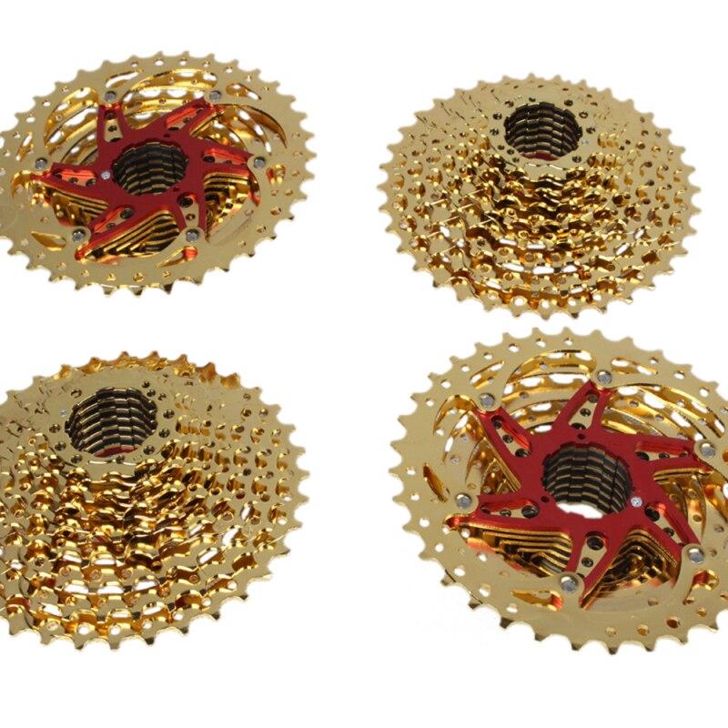 Culoare de aur cu 10 viteze 11-36T Mountain Bike Casetă Volantă - Ciclism - Fotografie 3
