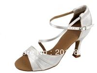 New Women White Wedding Bridal Dance Shoes Latin Ballroom Shoes Salsa Dance Shoes Size 35 36