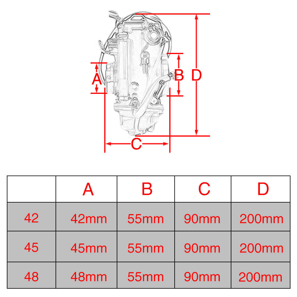 hight resolution of  alconstar motorcycle carburetor mikuni hsr42 hsr45 hsr48 pumper carb for harley evo twin cam sportster