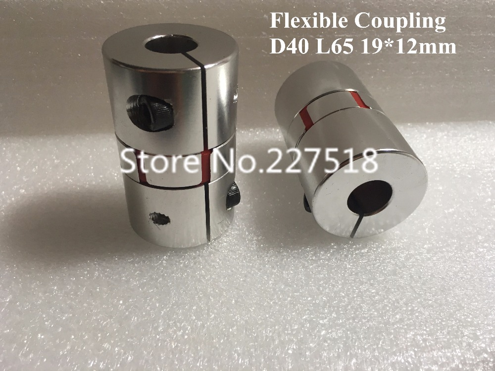 2pcs Stepper Motor Shaft Coupler 19mm x 12mm Flexible shaft coupling D40 L65 shaft coupling Coupler image