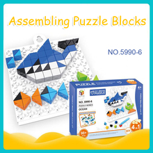DOLLRYGA jigsaw Puzzle Building Kits Plastic Bricks Educational Toys For Kid Toy For Children Christmas Gift kids craft pegboard 1048 pieces plastic 3d jigsaw puzzle moscow kremlin of russia building blocks kits kids puzzle game toy
