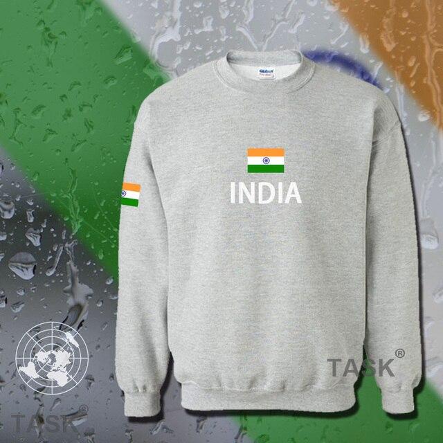 Индия толстовки мужчины толстовка тренировочный костюм хип-хоп уличной socceres jerseyes футболист костюм нации флаг Индии В флис