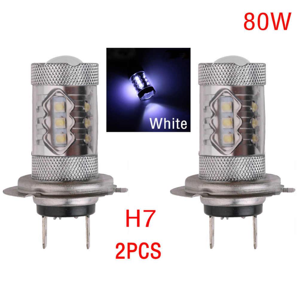 2PCS H1 H3 H4 H7 H8/H11 9005 9006 LED Lighting Car Headlight 2828 Bulb Fog Light White 6000K Automobiles Car Styling Front Light