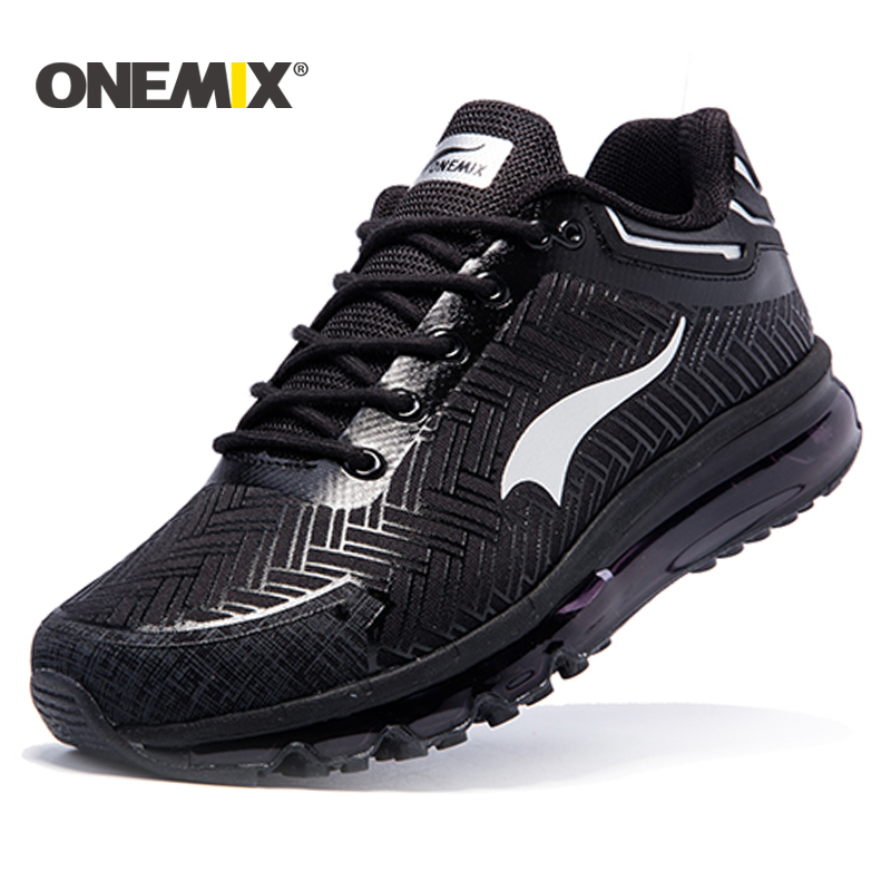 Onemix 2017 Brand men running shoes sports sneakers outdoor walking shoes for men light jogging shoes trekking sneakers man glowing sneakers usb charging shoes lights up colorful led kids luminous sneakers glowing sneakers black led shoes for boys