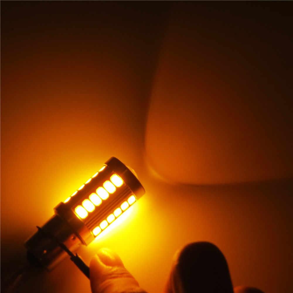 1x P13W 33 SMD 5630 5730 LED Auto Fog Lamps 33 LED Car Daytime Running Light DRL Bulb Yellow Amber 12V
