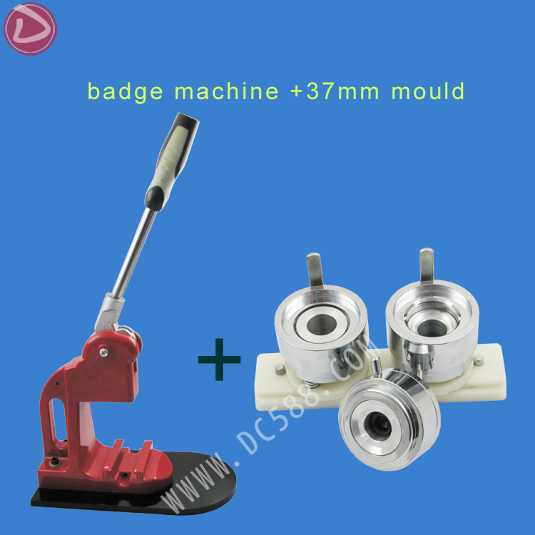 [Badge machine suppliers] round Shape 37mm badge mould+new pro badge machine can interchangeable Die Mould machine [badge machine suppliers] pin button badge machine 44mm round badge mould