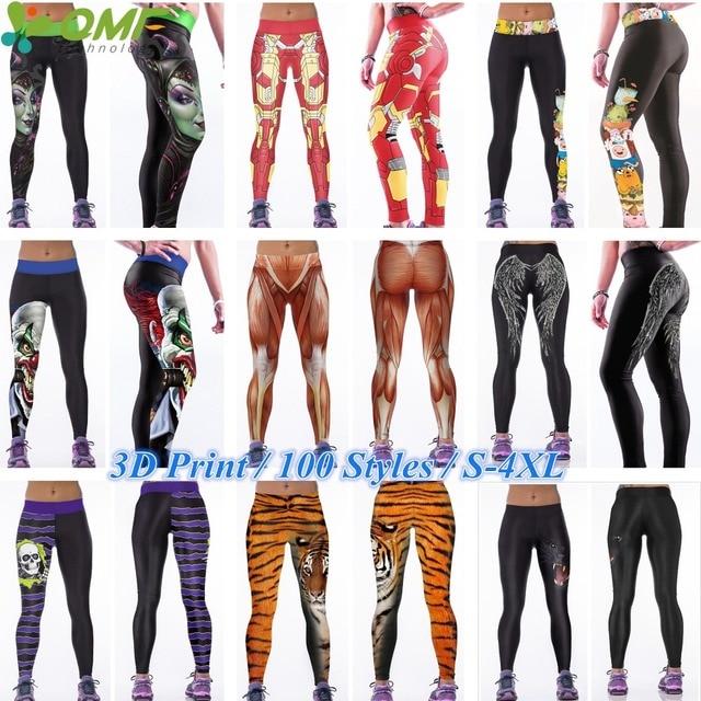 51bf1fbb5487a Batman The Joker Running Skinny Tights Women Black Feather Wings Sport Yoga  Pants Zombie Evil Queen Training Gym Leggings S-4XL