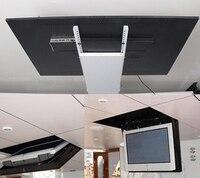Моторизованный Электрический Скрытая флип вниз подвесной потолок Led ЖК телевизор лифт крепление вешалка держатель функция дистанционного