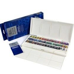 WINSOR & NEWTON 45 цветов cotman твердая Акварельная краска художника Высокое качество пигмент
