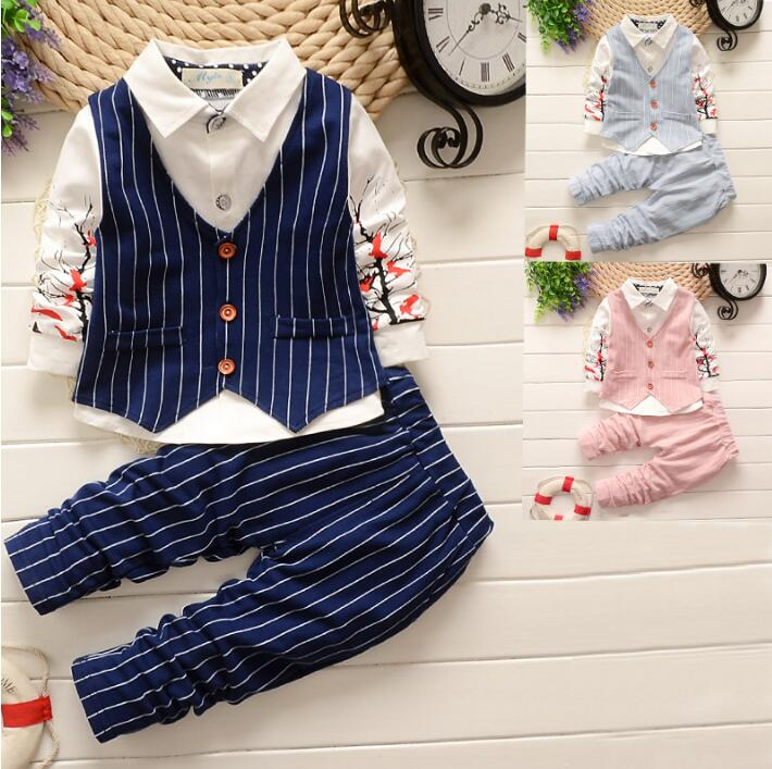 New 4 colour 3 Piece Kids  Clothes Autumn 2017 Fashion Toddler Girls Children Clothing Set Cotton waistcoat +T-shirt +Pants
