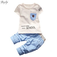 Summer Suits For Boys Short Sleeves Clothing Sets For Girls Cotton Casual Baby Set Kids Summer