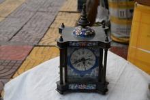 Rzadko stary miedziany zegar mechaniczny może pracować Cloisonne niemcy 1883 najlepsza kolekcja i ozdoby darmowa wysyłka tanie tanio Mechaniczne Zegary biurkowe edmoogrel GEOMETRIC Antique style Igła 100mm Metal 120mm Have a good practical value and collection value