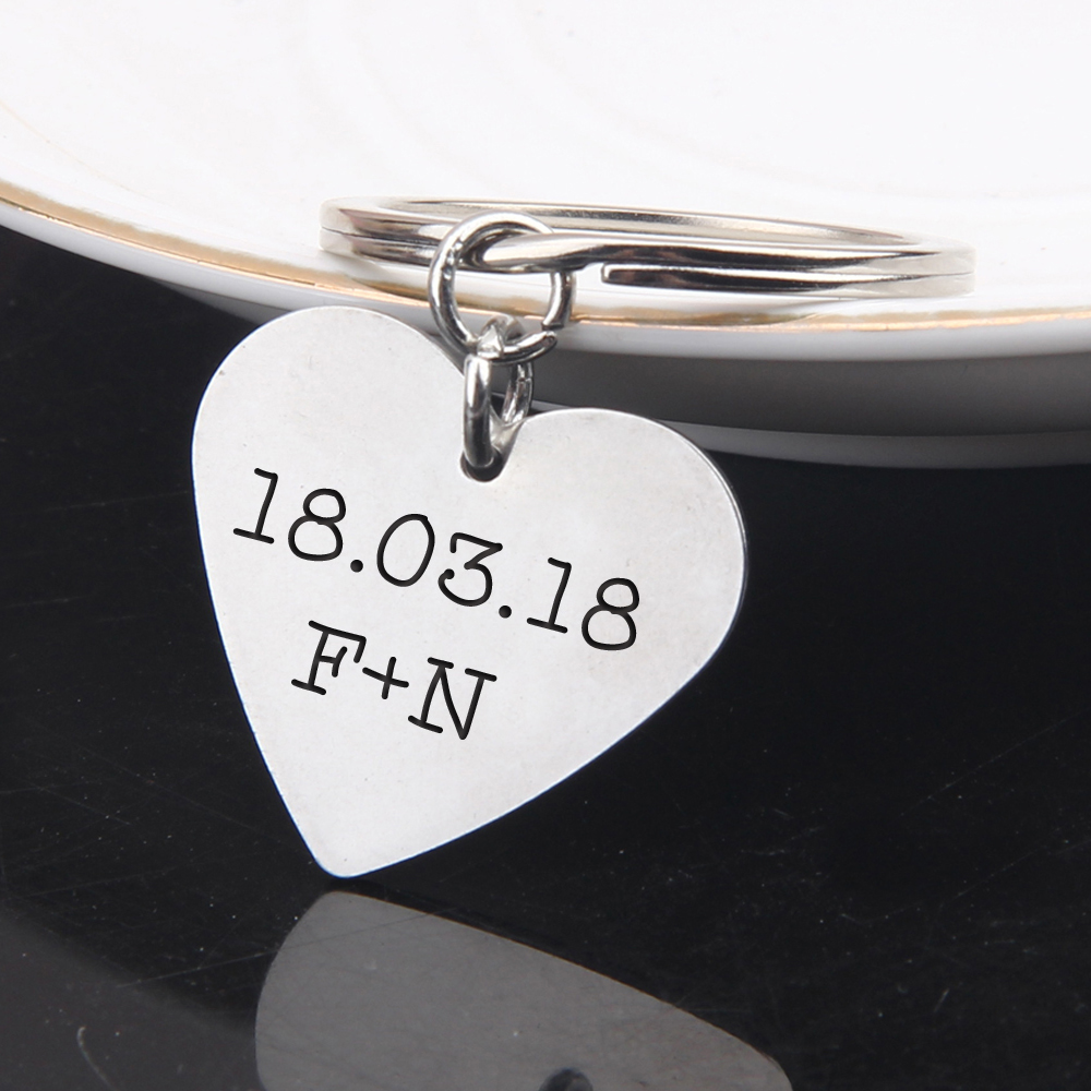Tmrow 1Pc I Pick You Always /& Forever Stainless Steel Pendant Keychain Guitar Pick Musical Gift for Anniversary Valentines Day,Round-shaped