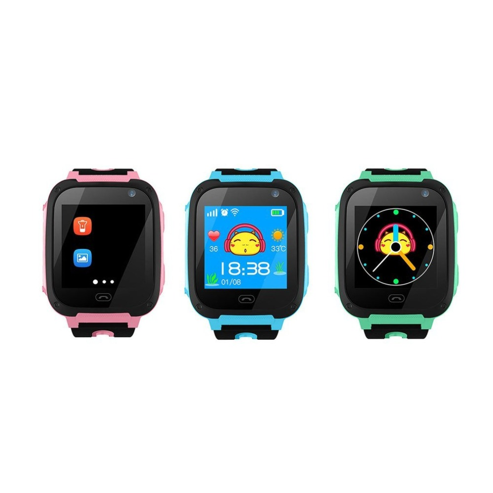 V6 Children Baby Smart Watch With 0.3MP Camera Anti Lost Monitor SOS Waterproof Phone Safe Watch A-GPS SIM Card Kid Smartwatch