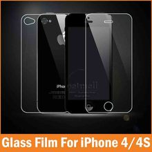 2PC = 1Front+1Back 0.26mm Tempered Glass For Apple iPhone 4 4S Screen Protector Film Glass On the For iPhone 5S SE 5C Protection