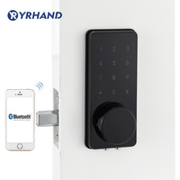 Black Home Smart Bluetooth Door Lock Electronic Touch Screen Code Password Deadbolt battery Door Lock Unlock with App Code Key