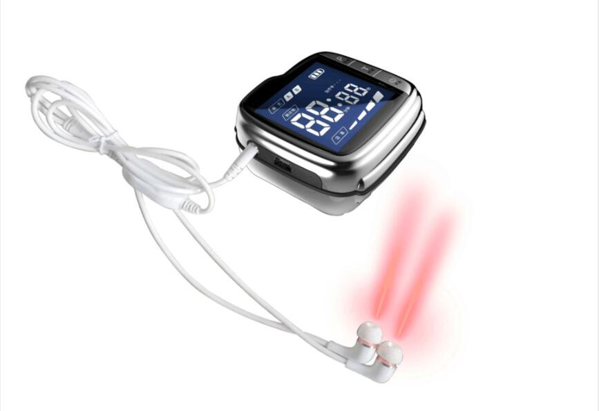 Medical Laser Therapy Acupuncture Watch Treatment Sinusitis Sore Throat  Tinnitus Lower Blood Pressure blood Clean
