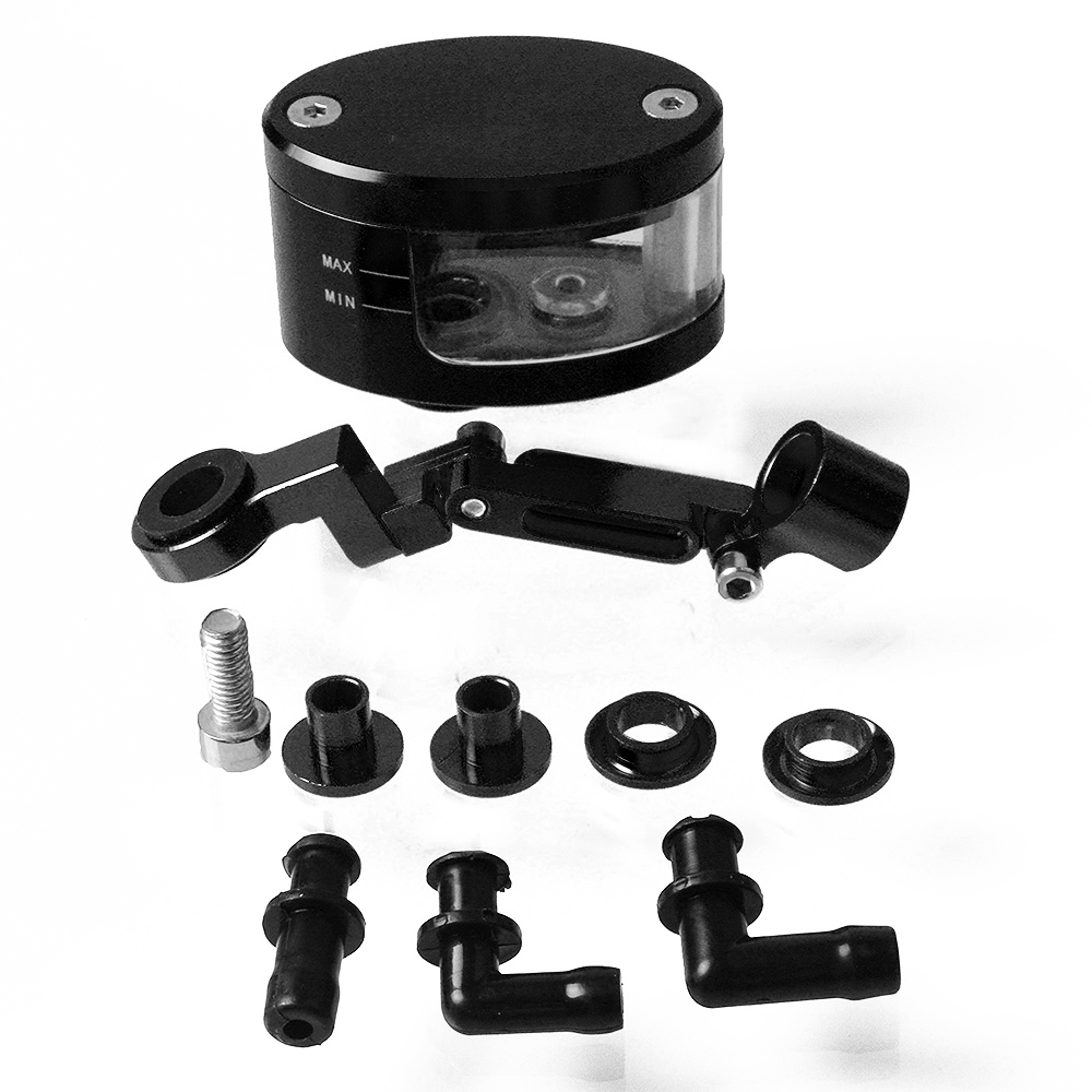 Universal Motorcycle Brake Fluid Reservoir Oil Tank with mounting kit For Honda CB CBR 300 599 600 600F 1000 1000R 1100 650F in Covers Ornamental Mouldings from Automobiles Motorcycles