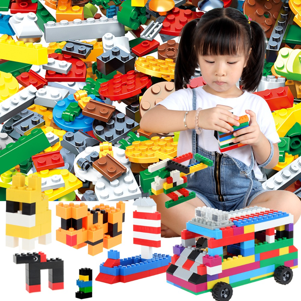 1000 Pcs Building Bricks DIY Creative Brick/Desk Kids Toy Educational Building Blocks Bulk Compatible With Legoed Block 1000pcs bulk bricks educational children toy compatible with major brand blocks 10 colors diy building blocks creative bricks
