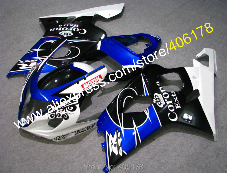 Hot Sales,For SUZUKI Fairing GSXR 600 750 2004 2005 K4 white black Blue Corona high grade motorcycle fairing (Injection molding) isadora big bold mascara 10
