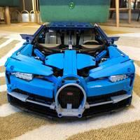 Technic Series Blue Racing Car Set Compatible Legoing Toys Model Building Blocks Bricks Kits Toys Car Assemblage Gift